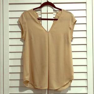 Front and back V neck blouse